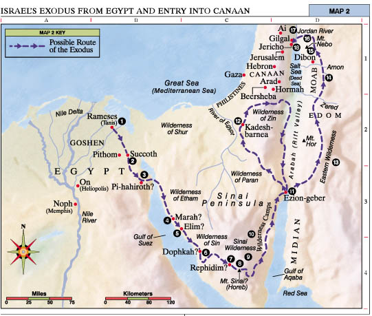 Middle East Map Dead Sea.From The Middle East